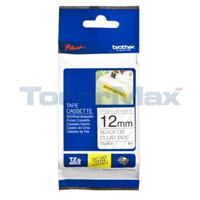 BROTHER TZ TAPE BLACK ON CLEAR 12MM X 8M